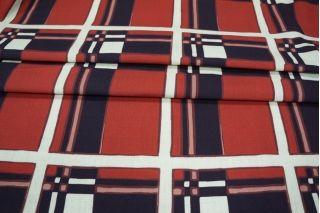 Рогожка костюмная хлопок со льном квадраты PRT-G7 12031901