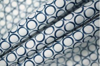 Поплин сорочечный белый с кругами PRT-H4 12031915