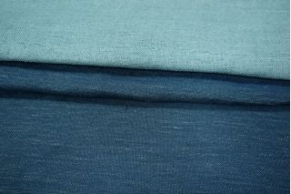 Двусторонняя костюмно-плательная вискоза синяя PRT-C3  05021914