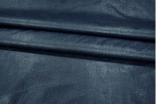 Кожзам-стрейч на хлопке темно-синий PRT-I4 05021916