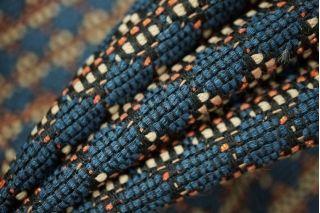 Жаккард костюмный сине-бежевый PRT-F7 05021922