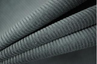 Вельвет хлопковый серый PRT-I6 06021911