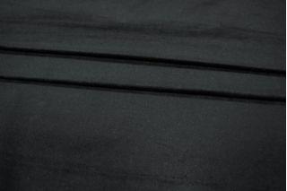 Велюр-стрейч хлопковый черный PRT-I6 06021917