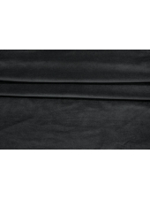 Велюр-стрейч хлопковый черный PRT-B7 12031921