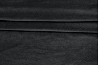 Велюр-стрейч хлопковый черный PRT 086-E3 12031921