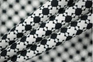Поплин сорочечный геометрия черно-белая PRT 12031925
