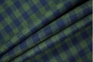 Рубашечный хлопок в клетку зеленый на елочке PRT 13031903