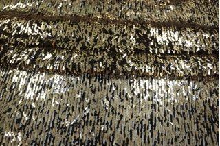 Пайетки золотые на сетке PRT-D3 06021921