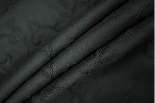 Хлопок черный с вышивкой PRT-B4 06021935