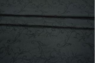 Хлопок черный с вышивкой PRT-C2 06021935