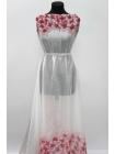 Батист хлопок с шелком цветы розовые бордюр PRT-Н3 09021901