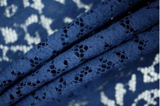 Гипюр синий хлопковый PRT-D2 09021903