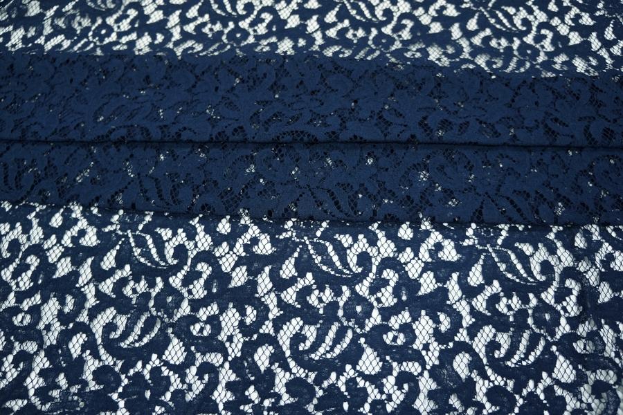 Гипюр темно-синий хлопковый PRT-J2 09021907