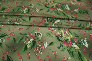 Блузочный креп ягоды хаки PRT-I6 09021910