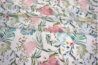Шифон креповый цветы тропики LEO-A7 18021906