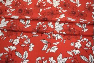 Штапель цветы на красном LEO-H4 18021909