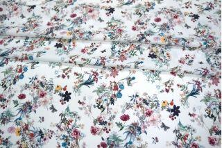 Штапель тонкий вискозный цветы LEO-A6 18021912