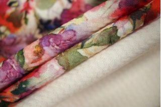 Трикотаж фактурный цветы КУПОН LEO-A5 18021915
