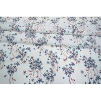 ОТРЕЗ 2,15 М Креповая вискоза цветочки на белом LEO-A7 26031902-2