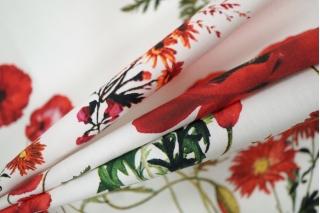 Поплин сорочечный маки LEO-A7 26031907