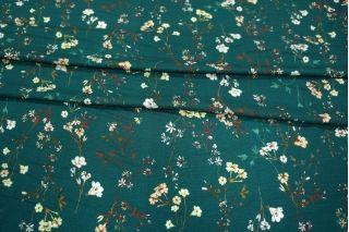 ОТРЕЗ 1,3 М Вискоза плательно-блузочная с мушками цветы LEO-A7 26031908-1