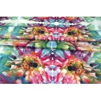 Вискоза плательная Monnalisa абстрактные цветы КУПОН PRT-T5 21021917