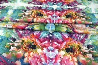 Вискоза плательная Monnalisa абстрактные цветы КУПОН PRT-I7 21021917