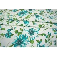 ОТРЕЗ 2 М Сатин плательный цветы PRT-H7 21021918-1