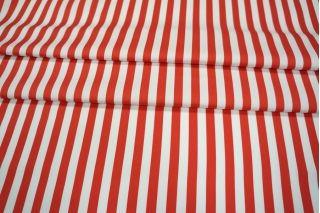 Сатин полоска красно-белая PRT1 065-B5 21021920