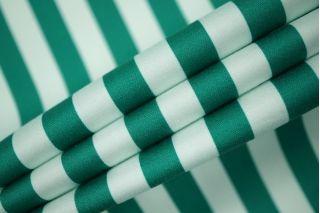 Сатин полоска зелёно-бирюзовая PRT1-F5 21021922