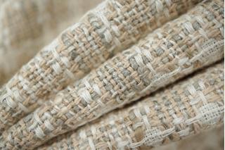 Шанель костюмная хлопковая бело-бежевая PRT-G7 05021934