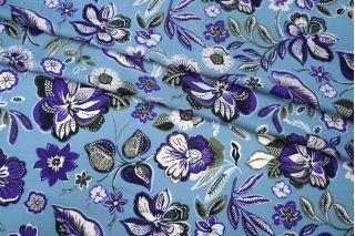 Тонкий вискозный креп цветы PRT1-Н4 24031927