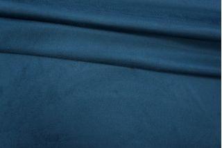Замша трикотажная односторонняя темно-синяя PRT 031-I3 25031912