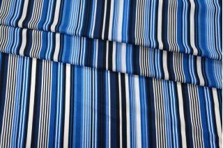 Штапель в полоску синий PRT-Н5 21031913