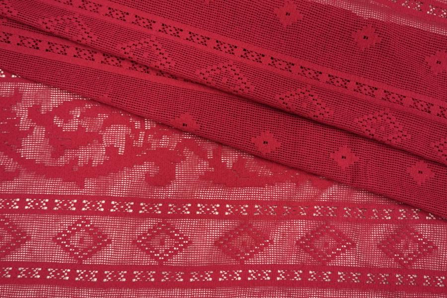 Кружево хлопковое ягодное Pizval PRT-ВВ3 27031902