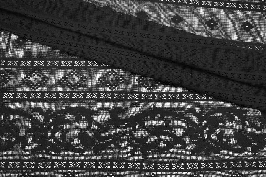 Кружево хлопковое черное Pizval PRT-O40 27031903