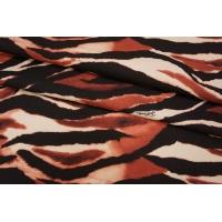 ОТРЕЗ 1.45 М Футер хлопковый полосы красные Cavalli PRT-D4 28031917-1