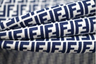 Трикотаж хлопковый сине-белый Fendi PRT-C7 28031918