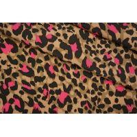 ОТРЕЗ 1 М Креповая вискоза яркий леопард LEO -Н5 08051907-1