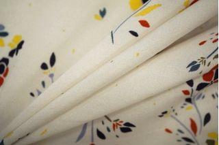 Штапель тонкий вискозный цветы LEO 101-H4 08051909