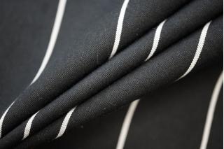 Костюмная поливискоза черная в полоску PRT-F3 02051915