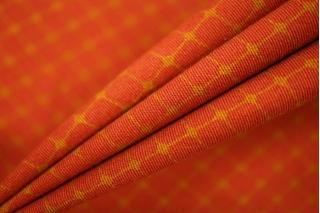 Хлопок костюмно-плательный красный в ромбы PRT-C7 02051933