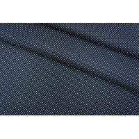 Поплин сорочечный темно-синий в горошек PRT-B2 03051919