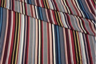 Штапель в полоску ягодно-синий PRT-Н5 21031914