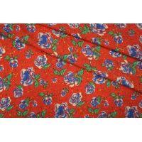Твил плательный цветы на красном PRT-Н3 21031915