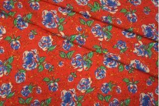 Твил плательный цветы на красном PRT 040-H3 21031915