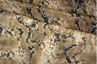 ОТРЕЗ 2.4 М Шифон вискозный рептилия бежевая PRT-A2 21031918-1