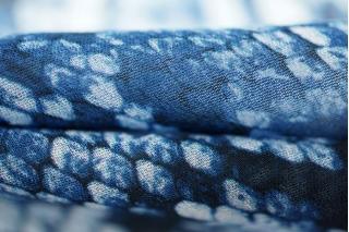 Шифон вискозный рептилия синяя PRT-A2 21031919