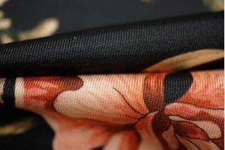 Плательный полиэстер с цветами PRT1 - F4 22031915