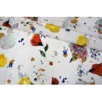 Батист белый цветы PRT1-B4 21031901
